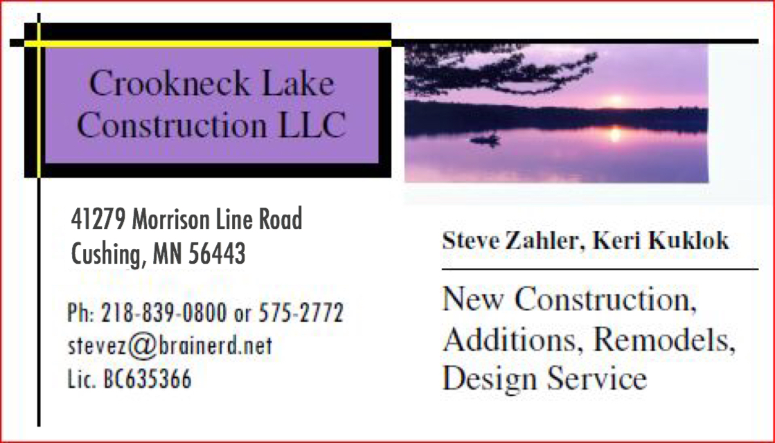 Crookneck Lake Construction