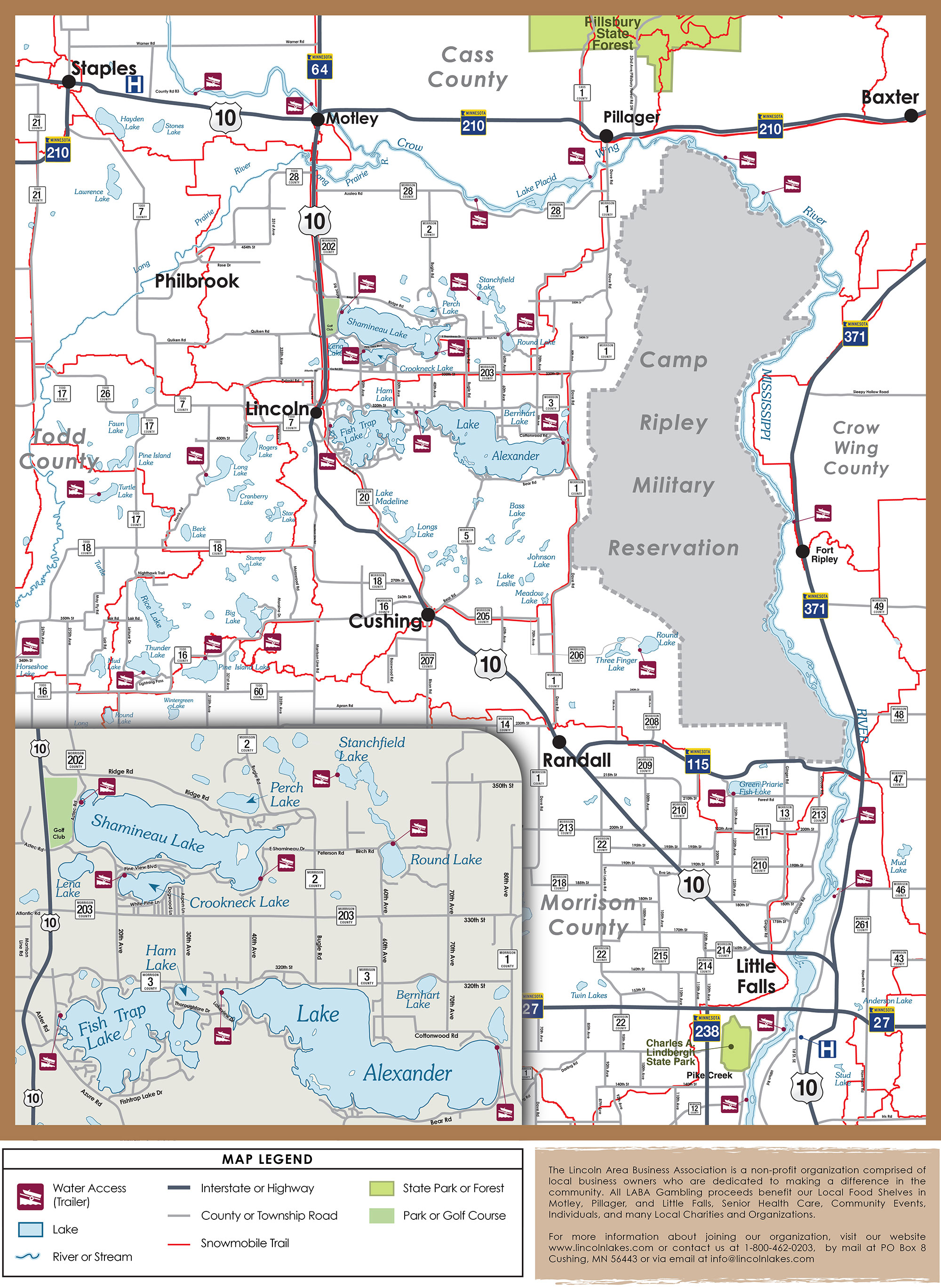 Lincoln Lakes Area Map